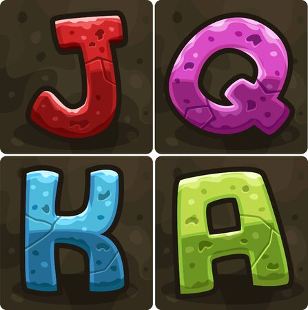 slots: Symbols for slots game.