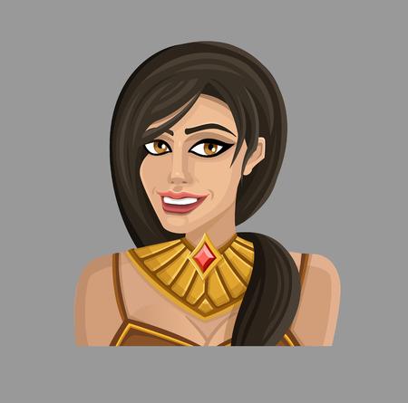 gold woman: Cartoon woman in gold.
