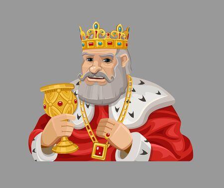 koning van het beeldverhaal in het rood.