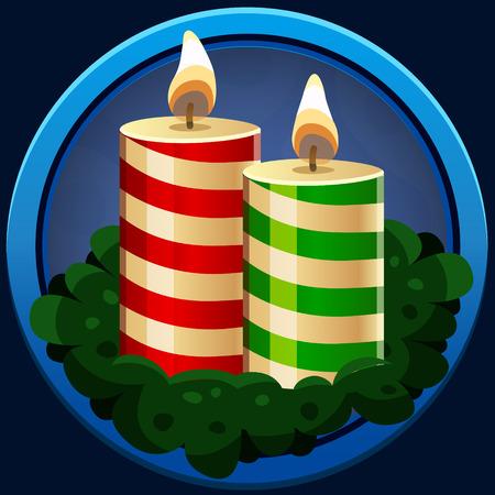 velas de navidad: icono de velas de Navidad. ilustración vectorial