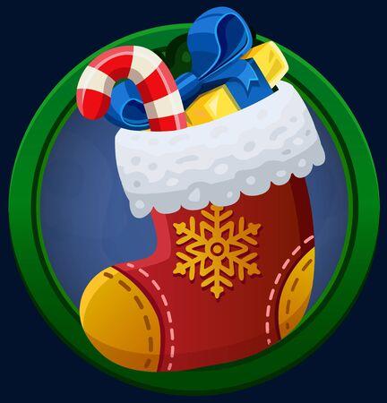 christmas sock: Christmas sock icon. Vector illustration