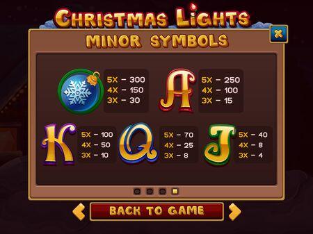 money button: Info for slots game. Vector illustration Illustration