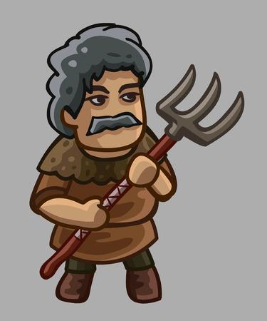 campesinas: personaje de dibujos animados campesino. ilustración vectorial Vectores