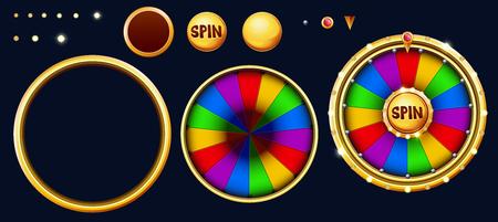 Bonus wheel of luck. Vectores