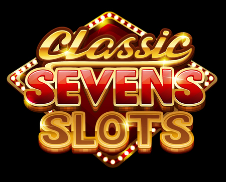 Symbol of classic sevens slots for game.