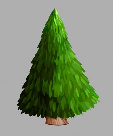 Green Christmas tree. Illustration