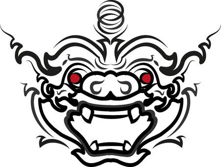 Thai Art Ramayana hanuman-monkey styethai vector laithai (thailand)