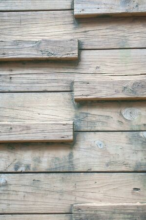polished wood: Polished wood vertical steps kept outdoor, long time washed by rain and sunlight