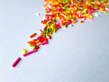 narrow depth of field: Sprinkles on paper, Narrow depth of field, selected focus Stock Photo