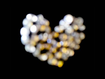 blured: Blured diamond heart abstract background.Defocused. Stock Photo