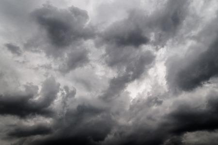 monochrome of dark cloudy sky before storm Stock Photo