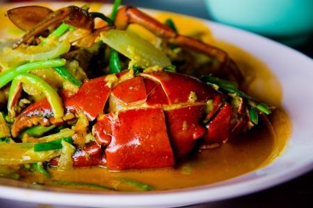 comida gourment: Pescado y marisco con cangrejo