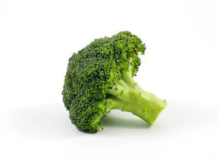 broccoli: Broccoli geïsoleerd op een witte achtergrond