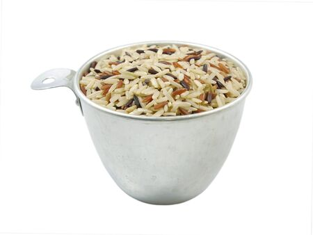plant antioxidants: Close up brown rice in a cup