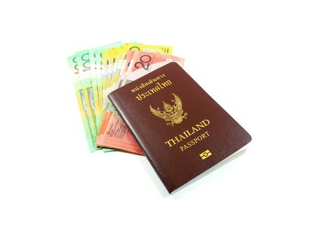 australian money: Passport and Australian money