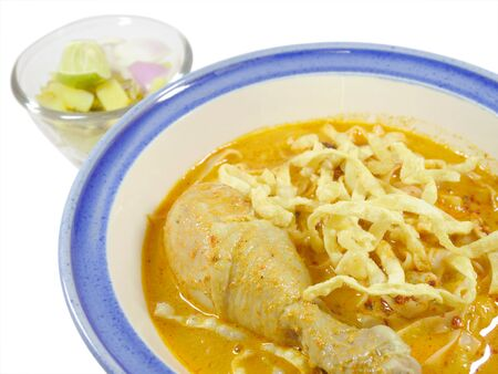 soi: Khao soi. Northern Thai curried noodle with chicken