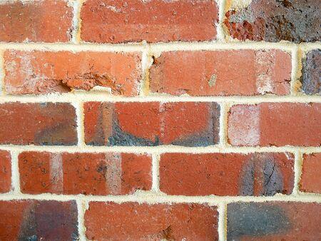grungy: Grungy red brick wall
