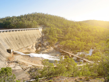 western australia: Scenery behind Wellington Dam Hydro Power Station in Western Australia in evening