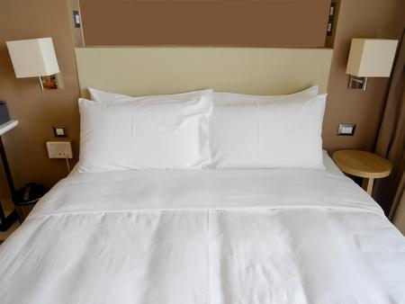 luxury room: Double room at luxury hotel Stock Photo