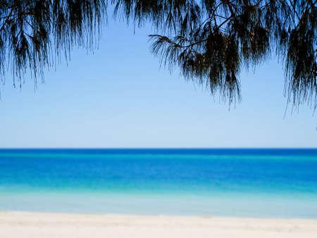 busselton: Blurred blue sea background