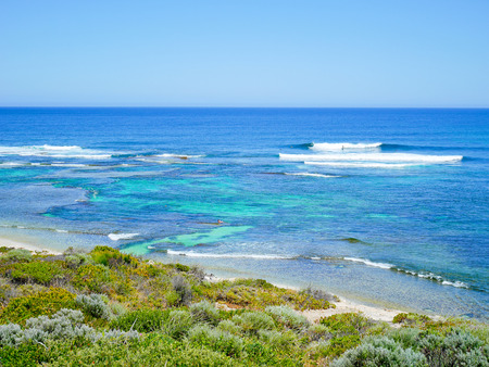 overlook: View of Surfers Point, Margaret River, Western Australia