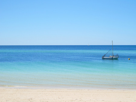 busselton: Yacht in blue sea