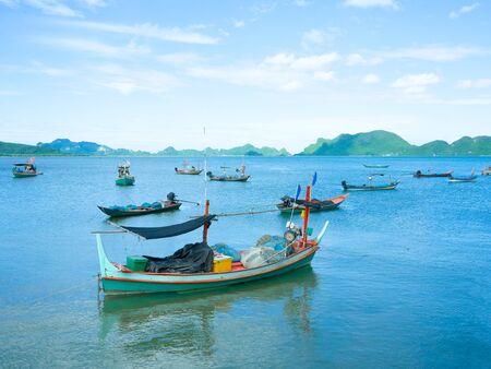 Local fishing boats in the sea 免版税图像
