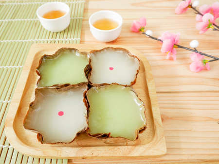 Nian gao or Chinese New Year's cake (rice cake) made from glutinous rice