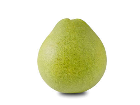 Ripe green pomelo isolated on white background