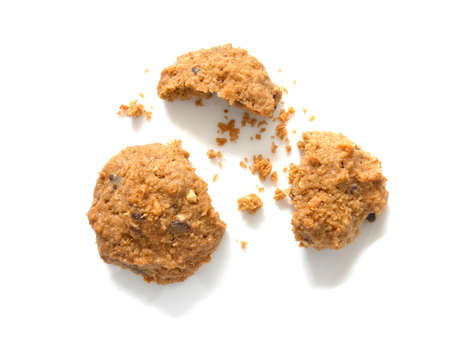 Oatmeal cookies with crumbs Stock fotó