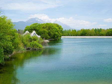 Qingxi reservoir and beautiful bridge Stock fotó