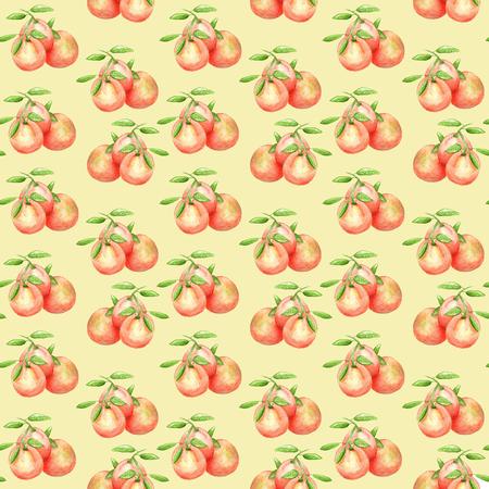 Print oranges yellow