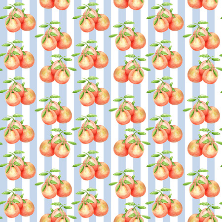 Print oranges blue stripes Banque d'images - 113993336