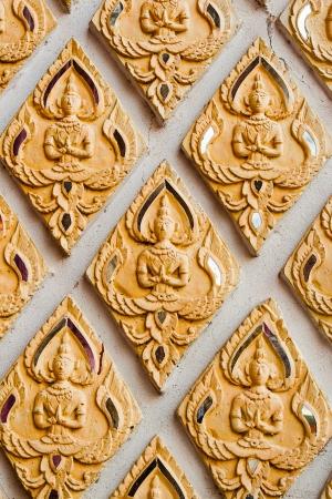 bas relief: Bas-relief ciment style tha� artisanat du bouddhisme
