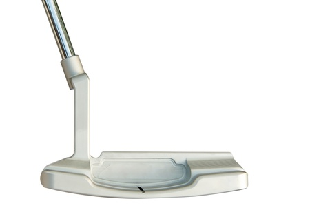 Golf club Putter  on white background photo