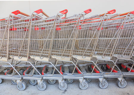 Wheel of Shopping carts photo