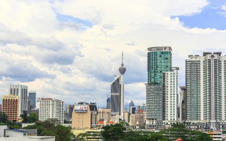KUALA LUMPUR, MALAYSIA - March 15     High angle view of the city at  March 15 , 2014  Kuala Lumpur, Malaysia and Kuala Lumpur Tower in Malaysia
