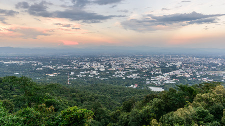 aerial view of chiangmai thailand in the morning photo