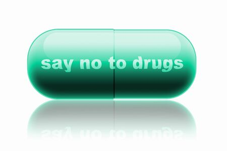 prophylactic: capsule. design concept  say no to drugs