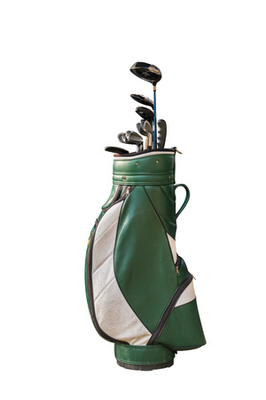 Golf clubs and Bag Isolated Stok Fotoğraf