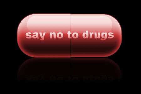 amphetamine: capsule. design concept  say no to drugs