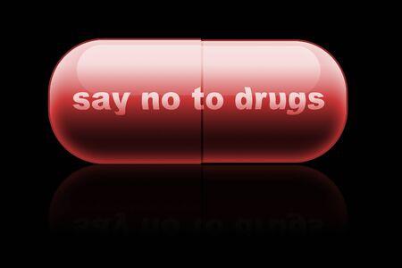 mdma: capsule. design concept  say no to drugs
