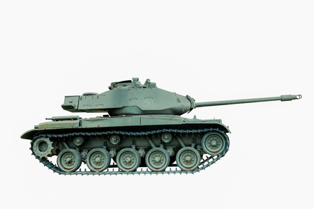 battle tank: M41 A1 Battle Tank, USA isolated on white background