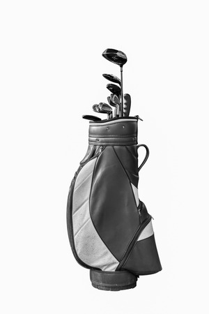 Golf clubs and Bag Isolated 스톡 콘텐츠
