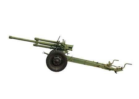 artillery shell: arma de artiller�a de edad. Foto de archivo