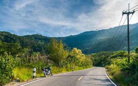 2 november: CHIANGMAI,THAILAND - November 2 :New construction roads in Chiangmai for Asean Economics Community (AEC) on November 2,2014. CHIANGMAI,THAILAND