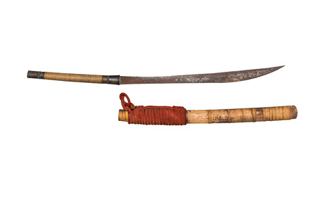 sabre: ancient thai saber (sabre).