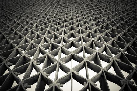 metal grid: walk way make from metal grid with regular pattern. Stock Photo