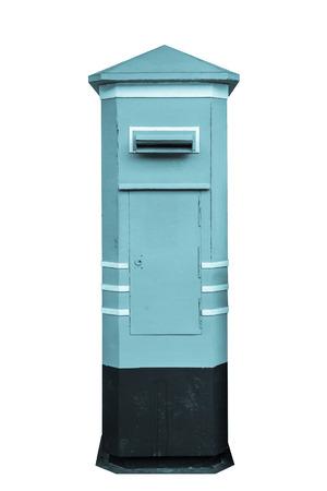 postbox: Thailand postbox isolated on white background. Stock Photo