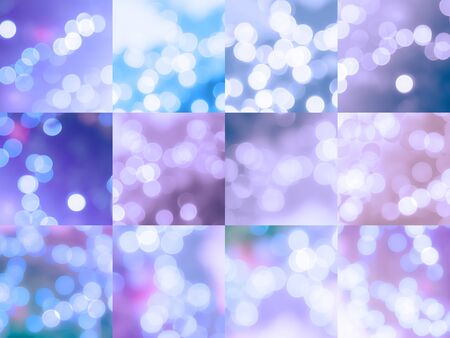 All abstract colorful  bokeh , Christmas and new year theme .
